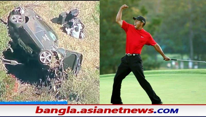 Tiger Woods has been admitted to hospital with serious injuries in a road accident bsm
