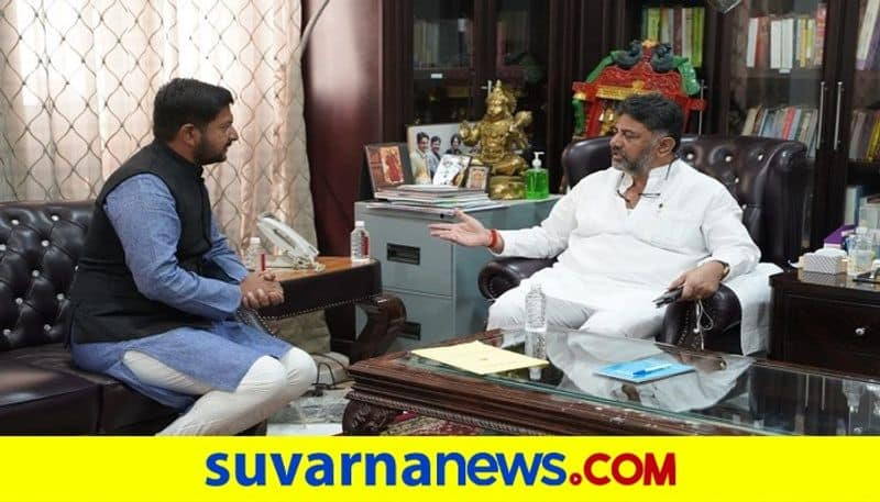 Hoskote MLA Sharath Bachegowda Meets DK Shivakumar Over Joining Congress On Feb 25th rbj