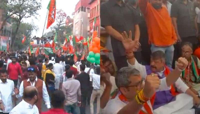 BJP leader attacks mamata banerjee's government on chaos at rath yatra at kanchrapara and kolkata spb