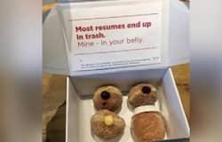 <p>box of sweets as job application</p>