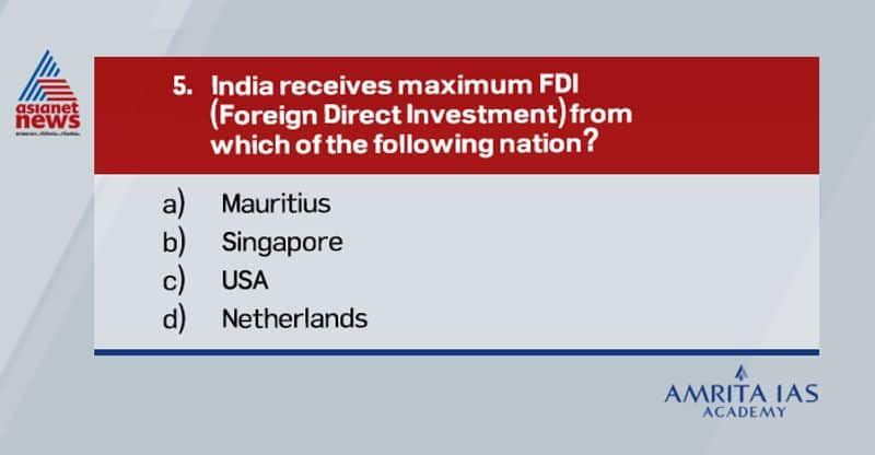 Answer: (b)In the financial year 2020, Singapore had the highest FDI equity inflow to India, which was valued at over 1036 billion Indian rupees, followed by Mauritius valued at over 577 billion Indian rupees.