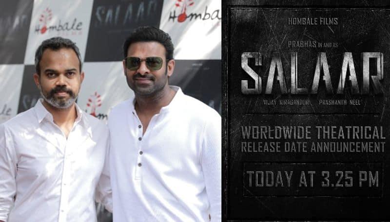 prabhas starrer salaar release date will announce today  arj