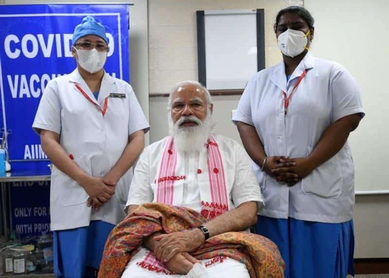 How PM Modi used humour to lighten up atmosphere during COVID vaccination ckm