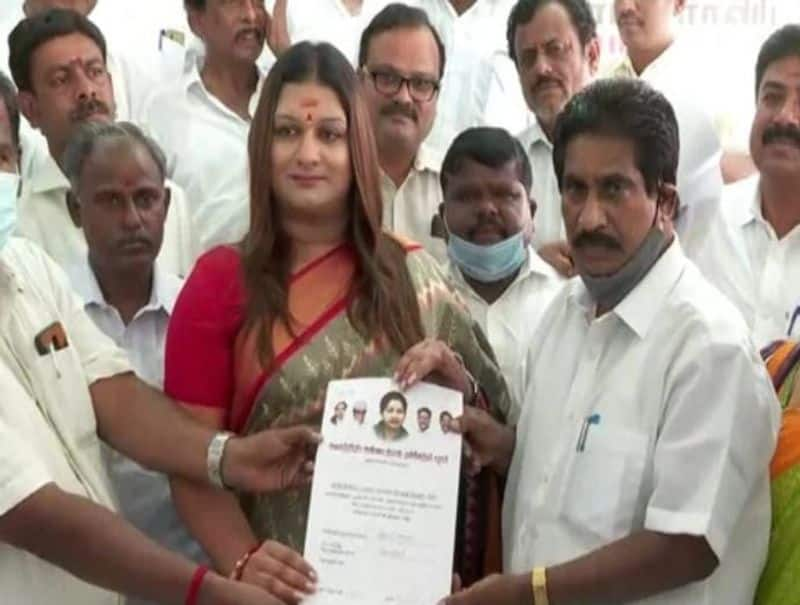 Apsara Reddy targets Stalin .. She gave Optional petition to contest Kolathur ..