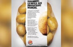 <p>potatoes free with burger</p>