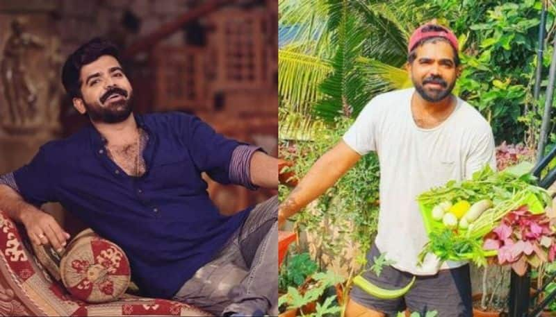 Malayalam serial actor and biggboss malayalam contestant deepan murali shared his organic kitchen farming images on social media got viral