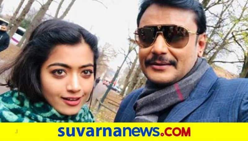 Rashmika shares selfie with darshan as yajamana film completes 2 years of release vcs