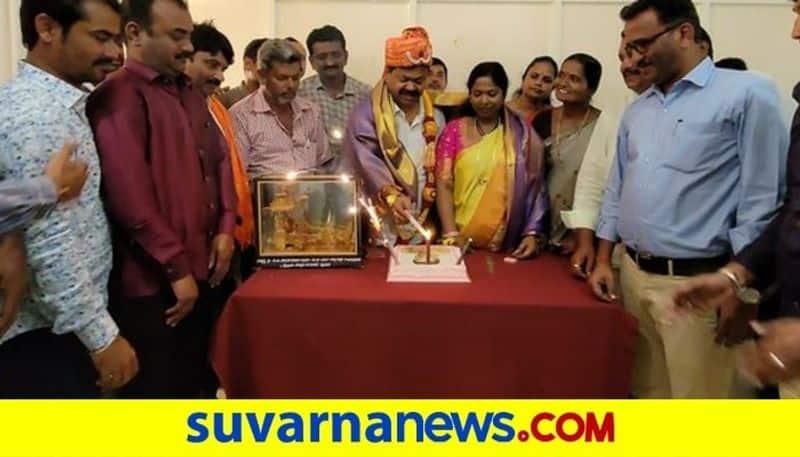 BJP MLA Renukacharya Birthday Celebrated in Honnali snr