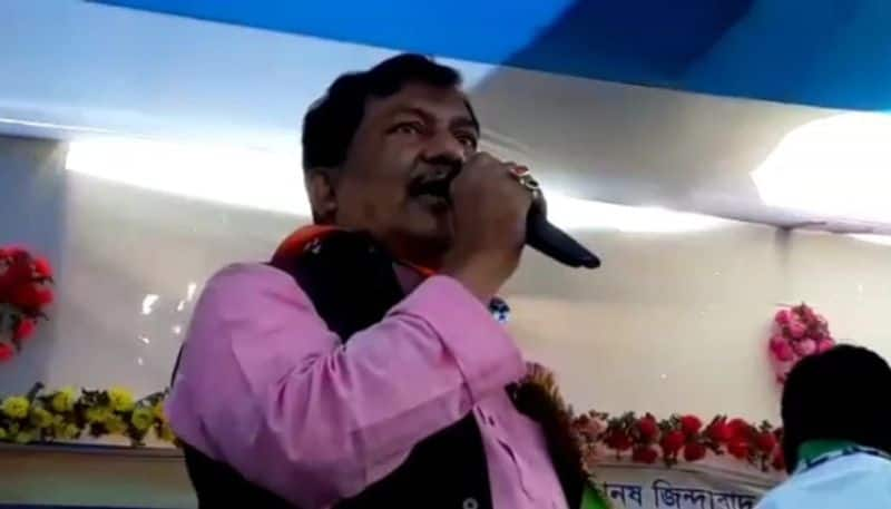 TMC MLA Hamidul Rahman threatened voters in Chopra ahead of west bengal assembly elections 2021 spb