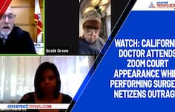 Watch: California doctor attends zoom court appearance while performing surgery; netizens outraged