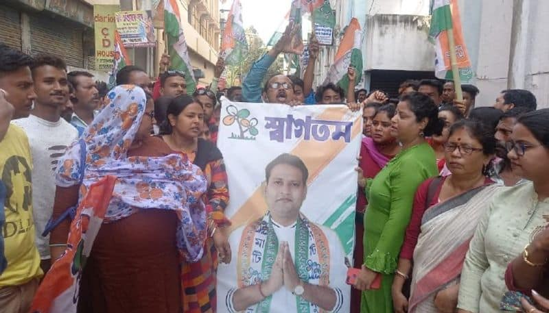 TMC protests in Raiganj before the published candidate list by Mamata Banerjee bsm