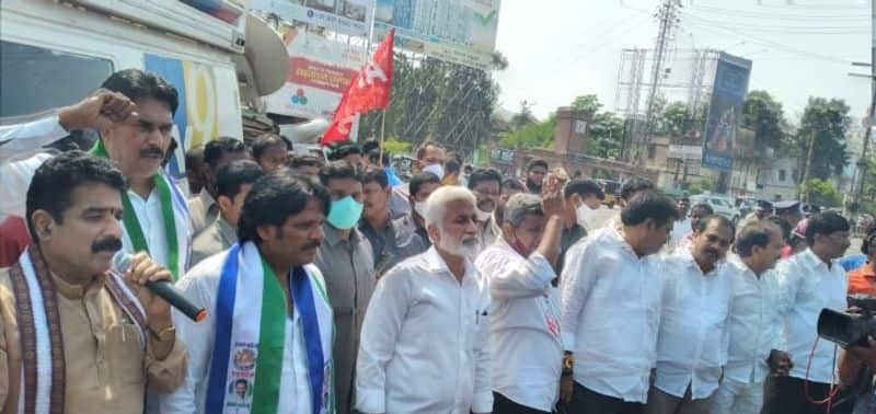 our government not allow to privatisation of visakha steel plant says ysrcp MP Vijayasai Reddy lns
