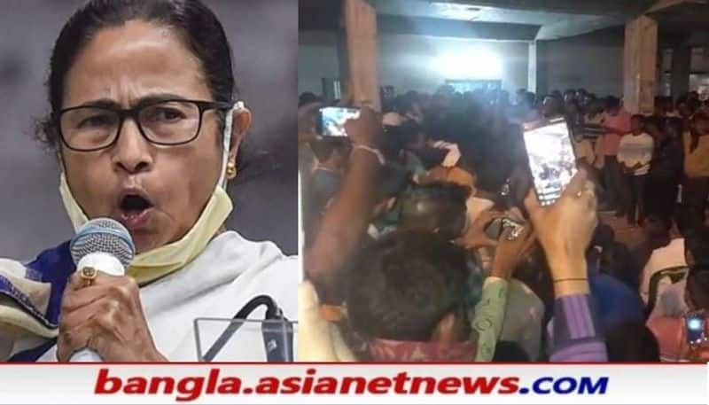 TMC activists protesting against  Mamata Banerjee on candidate selection issue RTB