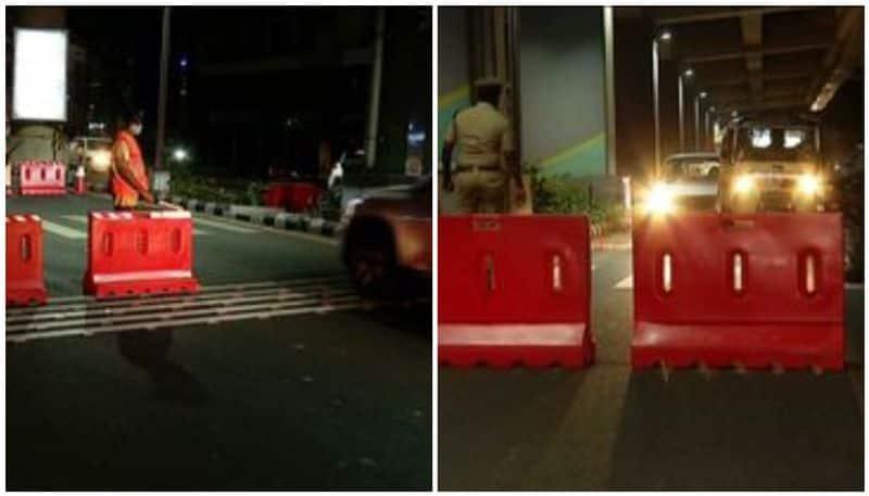 Elamkulam dangerous turn defects in road construction