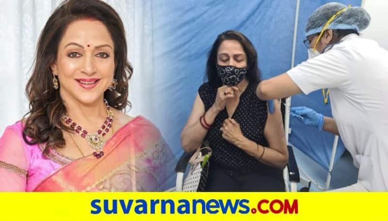 Hema Malini receives COVID-19 vaccine shot in Mumbai dpl