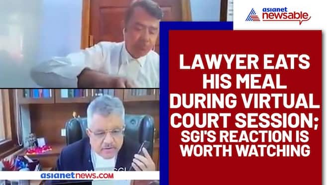 Lawyer Eats Lunch on Virtual court session, here's what Solicitor-General commented on it (Watch) - gps