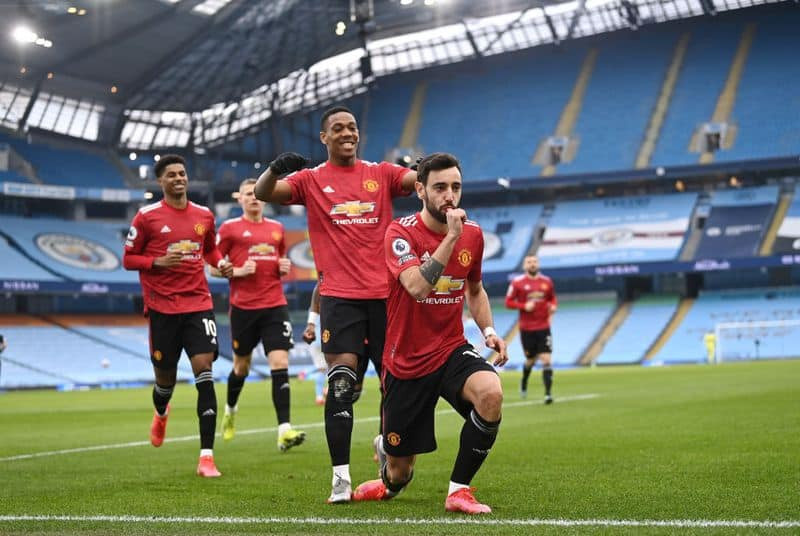 <p>United scored in the very second minute of the game, thanks to a successful penalty from Bruno Fernandes. Eventually, it was the earliest penalty goal ever conceded by City at Etihad Stadium in the EPL.</p>