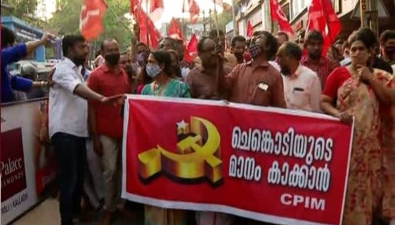 Kerala Elections Kuttiady CPIM workers protest against state committee decision