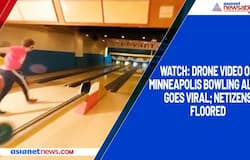 Watch: Drone video of Minneapolis bowling alley goes viral; netizens floored