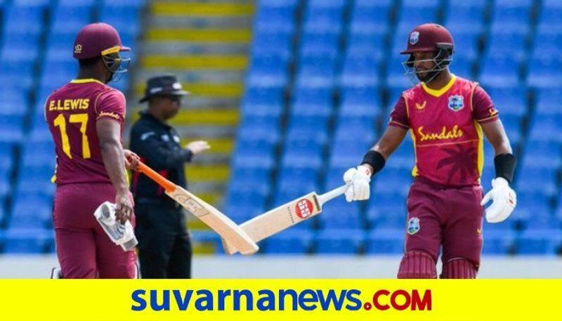 Evin Lewis scores Century West Indies pips Sri Lanka in last over thriller kvn
