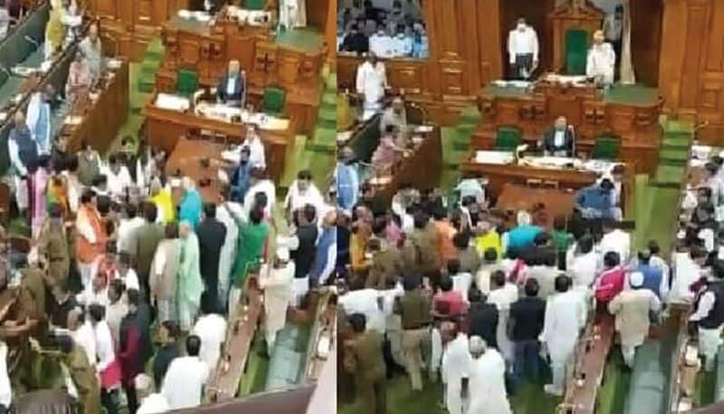 RJD MLAs stage protest at Bihar Assembly over sale of liquor in state ksp