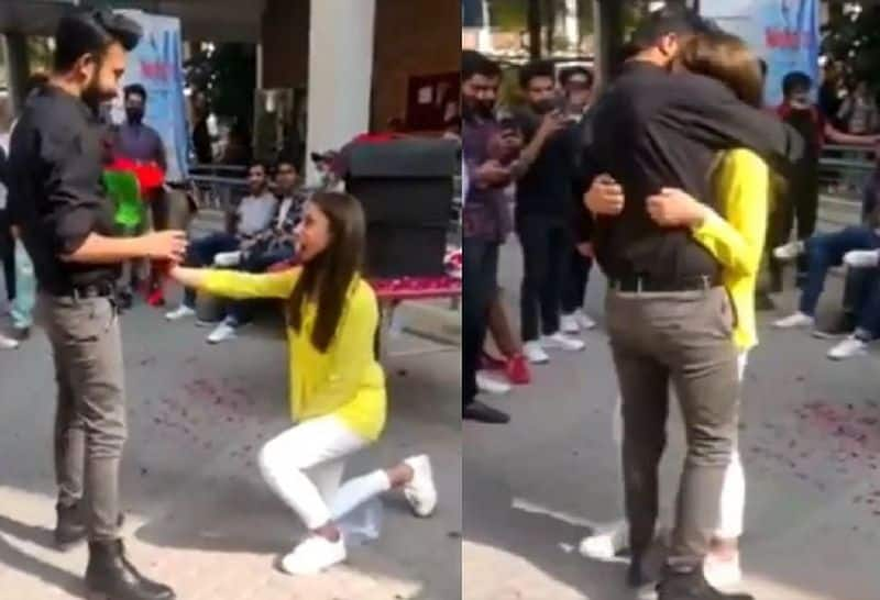 Pakistan lahore university suspend students after viral video of girl proposing to boy ckm