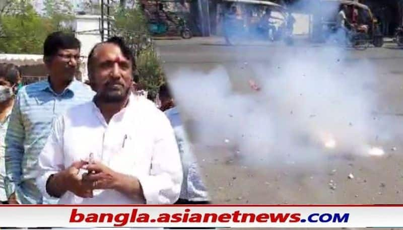 Raiganj TMC candidate caught in banned fire crackers controversy ALB
