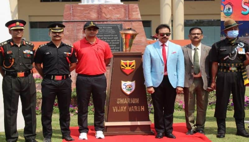 Swarnim vijay mashaal in Sister Nivedita University PNB