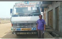 <p>truck driver fined for not wearing helmet</p>