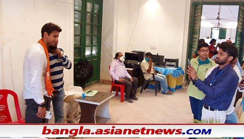 Election workers take selfie with BJP candidate Yash Dashgupta, suspended ALB