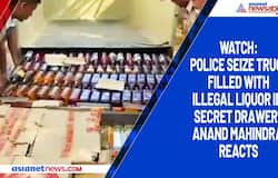 Watch: Police seize truck filled with illegal liquor in secret drawer; Anand Mahindra reacts
