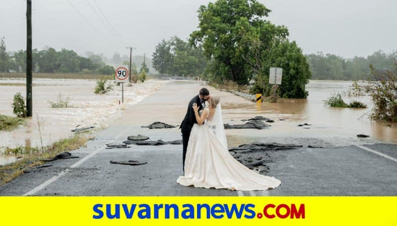 Wedding photo of pregnant bride taken in the middle of Australian floods goes viral dpl