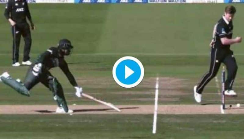 Watch Brilliant 'footwork' by Jimmy Neesham to force unique run out of Tamim Iqbal