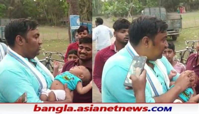 TMC candidate saw the patient during the campaign in Basirhat RTB