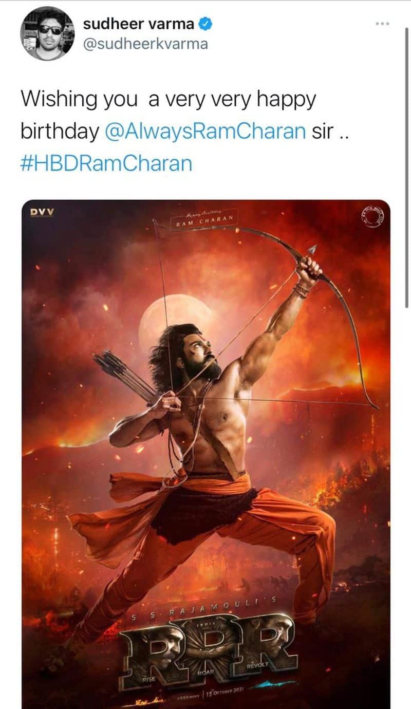 చరణ్కి దర్శకుడు సుధీర్ వర్మ విషెస్.