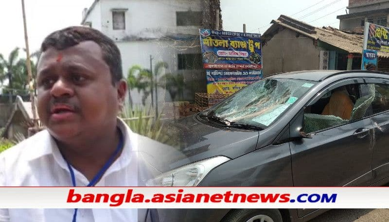 TMC allegedly attacks BJP leader Soumendu Adhikari's car at Contai ALB