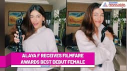 Alaya F does a victory dances as she receives Filmfare Award for Jawaani Jaaneman RCB