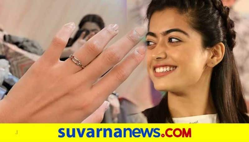 Rashmika mandanna shares a special finger ring photo with an unrevealed name vcs