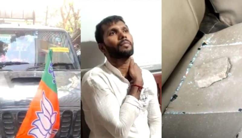 BJP candidate Ashoke Dinda was attacked during the election campaign in Mayna spb