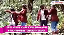 Kriti Sanon scares Varun Dhawan on sets of Bhediya's; Watch this hilarious video - ank