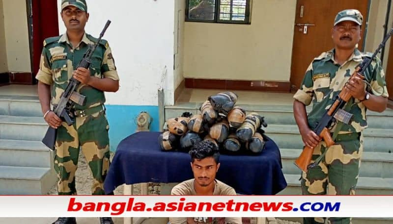BSF apprehended an Indian smuggler and seizes 7 KGs ladis hair ALB