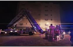 <p>Fire in building brought under control in muscat</p>