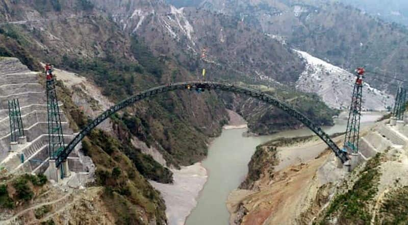 Moment to be happy and proud! Arch of Chenab bridge, connecting Kashmir to Kanyakumari completed