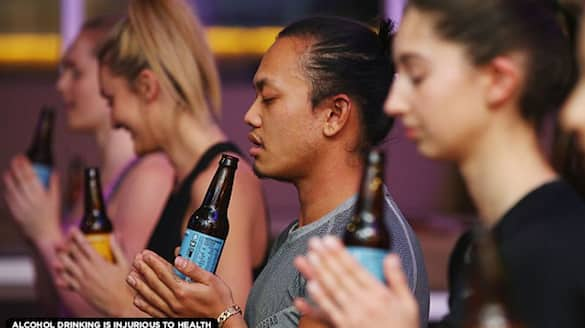 Beer Yoga video sparks extensive outrage in India; Watch viral video - gps