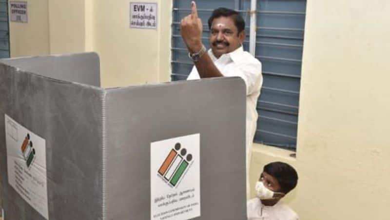 Edappadi Palanisamy registered to vote at the polling booth