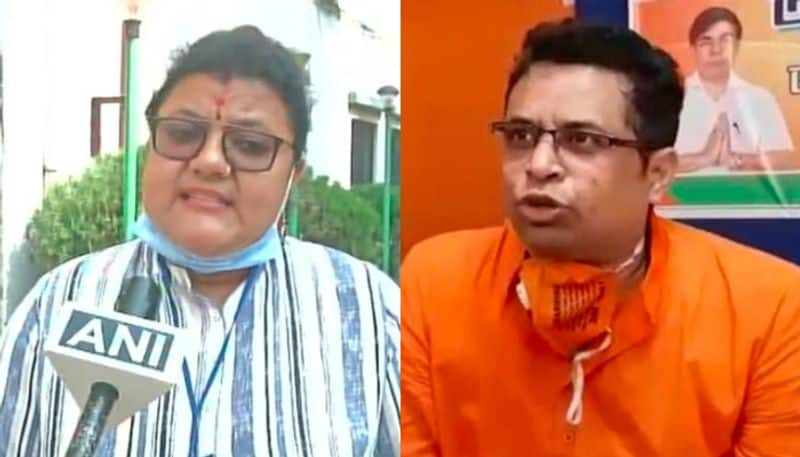 BJP MP Saumitra Khan give reaction on attack on Arambagh TMC candidate Sujata Khan spb