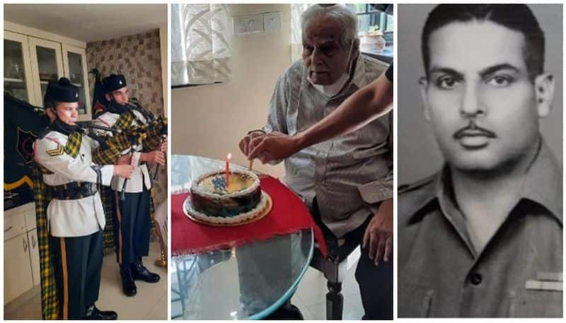 gurkha regiment honours its colonel gt thampi at 100th birth day by flying in from Ranchi to Trivandrum