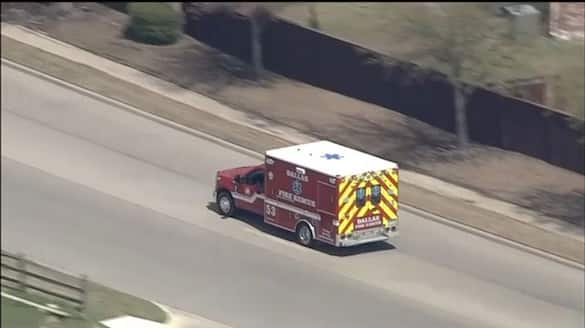 Police Chase Stolen Ambulance In Texas - bsb