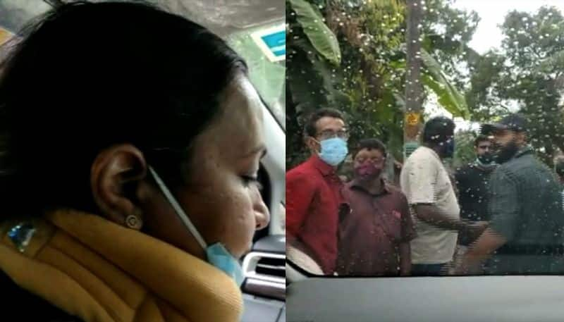 Veena George attacked by Congress BJP workers in Aranmula