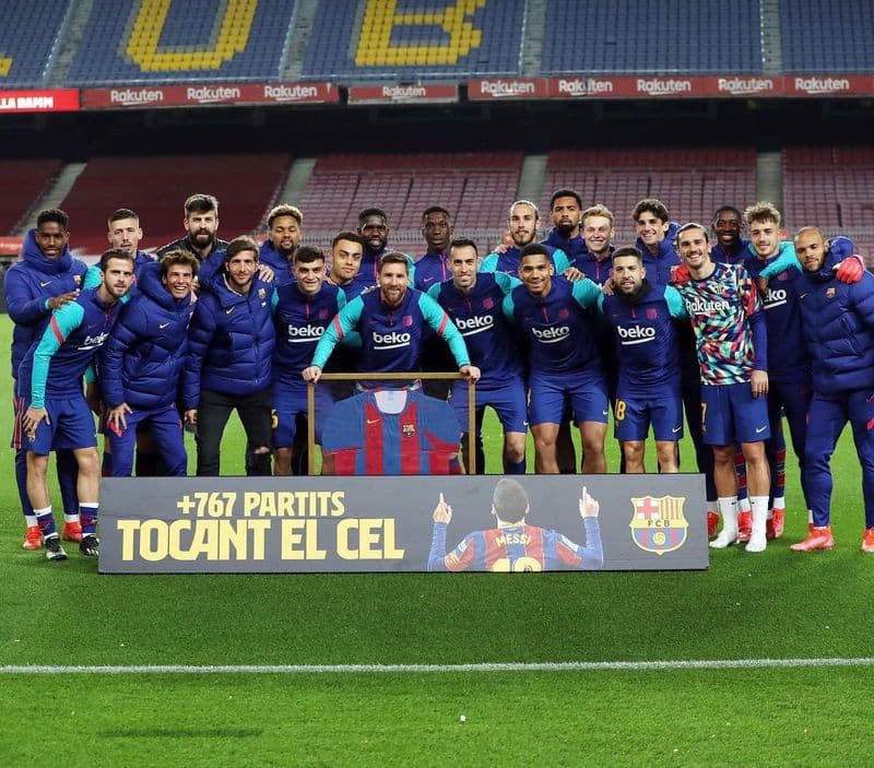 Lionel Messi honoured by Barcelona on making record club appearances (Watch video)-ayh